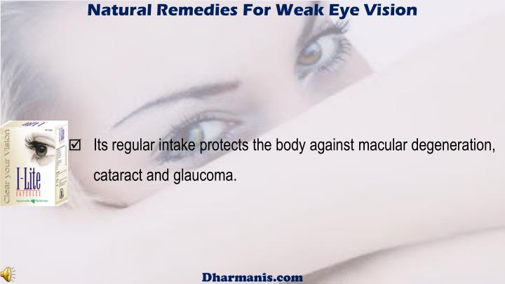 Natural Remedies For Weak Eye Vision