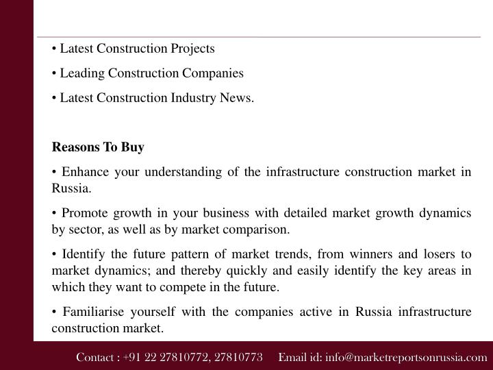 • Latest Construction Projects