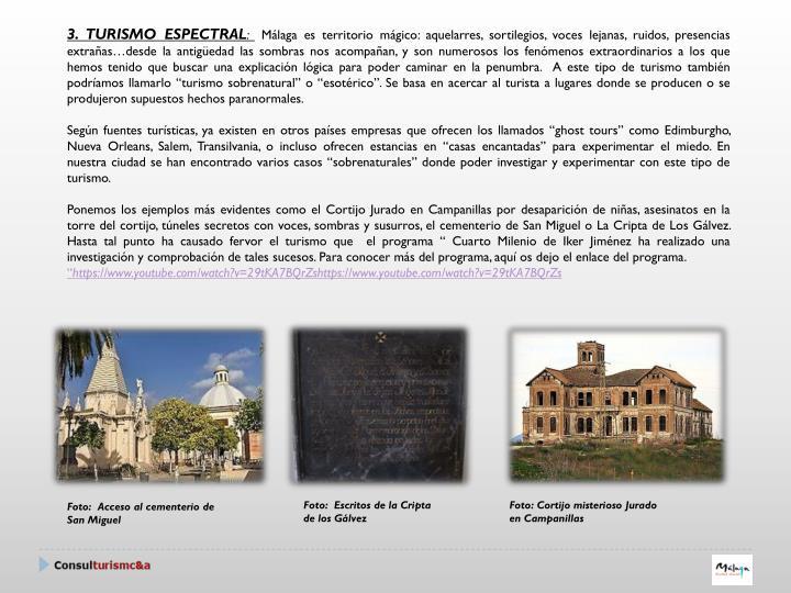 3. TURISMO ESPECTRAL