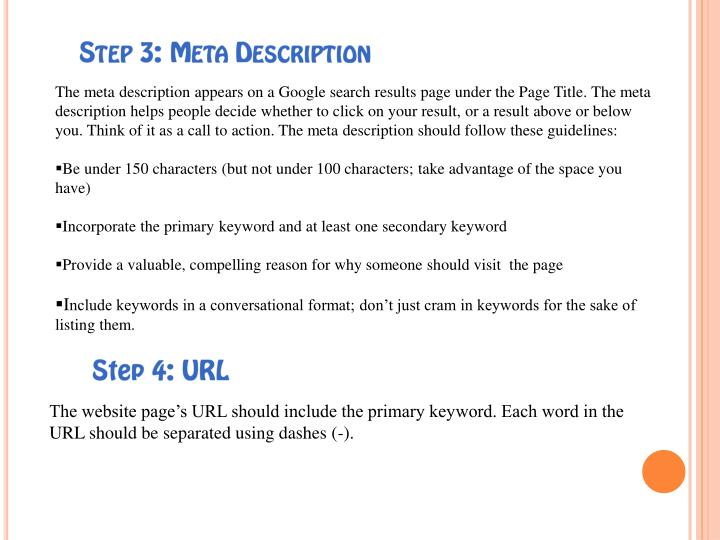 Step 3: Meta Description