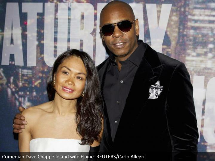 Comedian Dave Chappelle and wife Elaine. REUTERS/Carlo Allegri