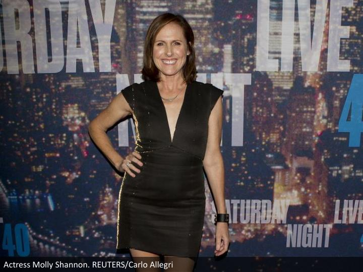 Actress Molly Shannon. REUTERS/Carlo Allegri