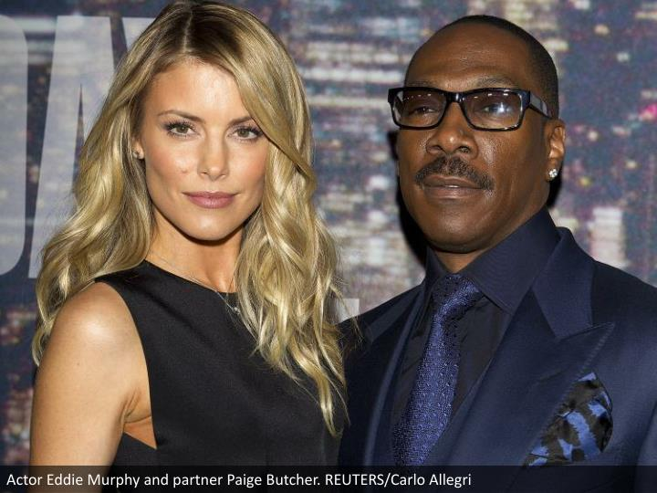 Actor Eddie Murphy and partner Paige Butcher. REUTERS/Carlo Allegri