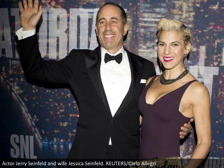 Actor Jerry Seinfeld and wife Jessica Seinfeld. REUTERS/Carlo Allegri
