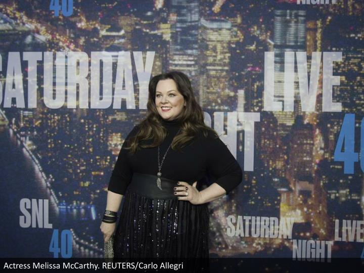 Actress Melissa McCarthy. REUTERS/Carlo Allegri