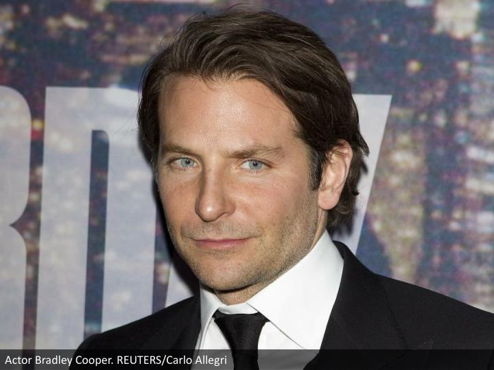 Actor Bradley Cooper. REUTERS/Carlo Allegri