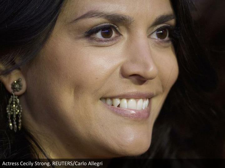Actress Cecily Strong. REUTERS/Carlo Allegri