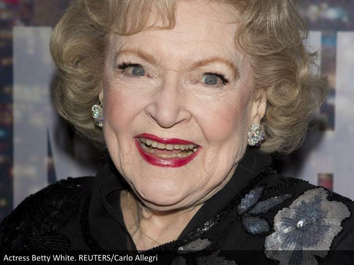 Actress Betty White. REUTERS/Carlo Allegri