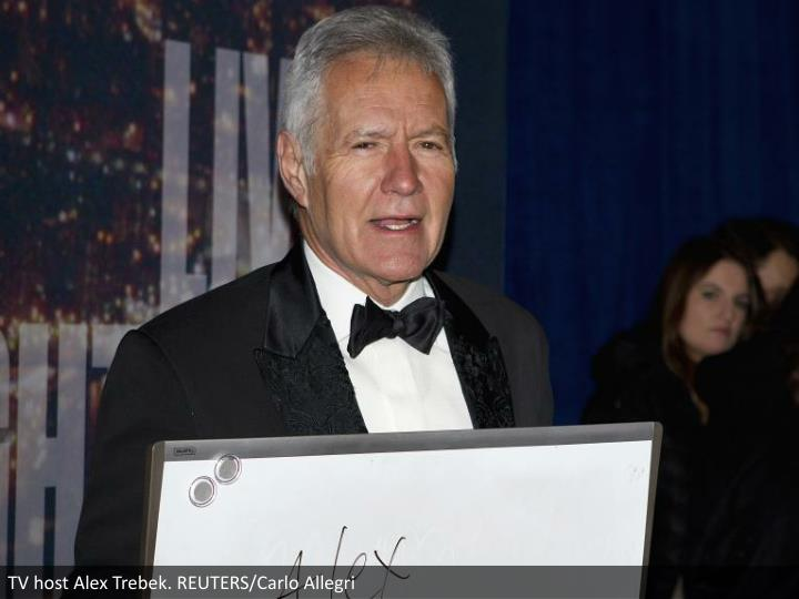 TV host Alex Trebek. REUTERS/Carlo Allegri