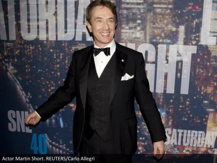 Actor Martin Short. REUTERS/Carlo Allegri