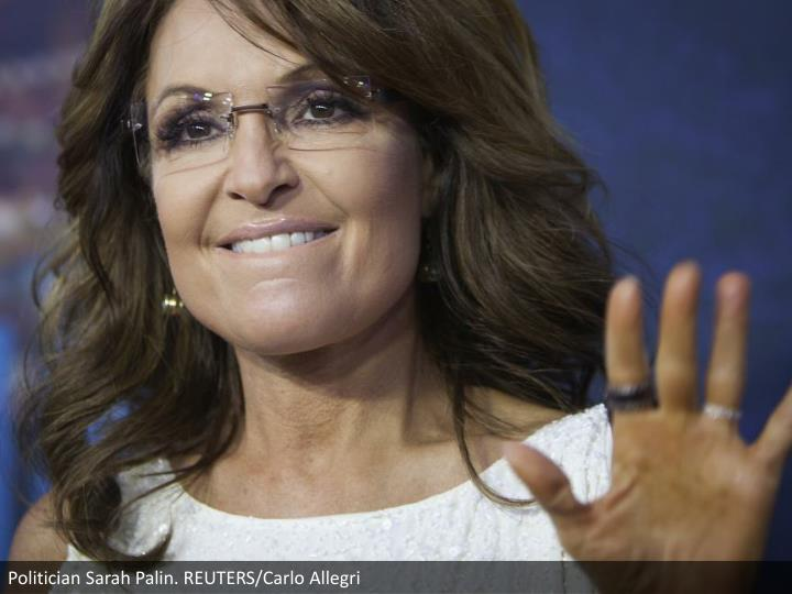 Politician Sarah Palin. REUTERS/Carlo Allegri