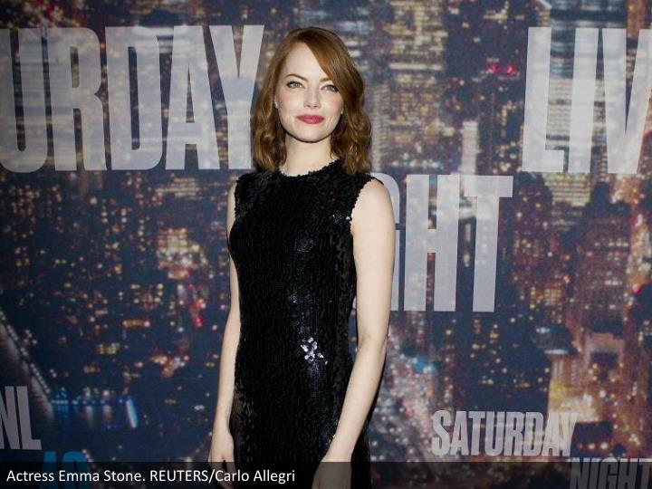 Actress Emma Stone. REUTERS/Carlo Allegri