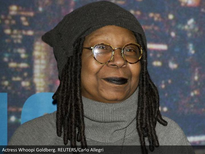 Actress Whoopi Goldberg. REUTERS/Carlo Allegri
