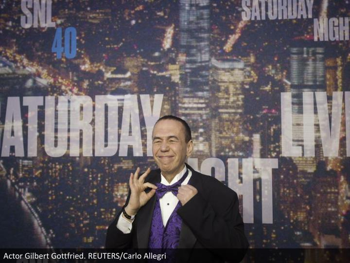 Actor Gilbert Gottfried. REUTERS/Carlo Allegri