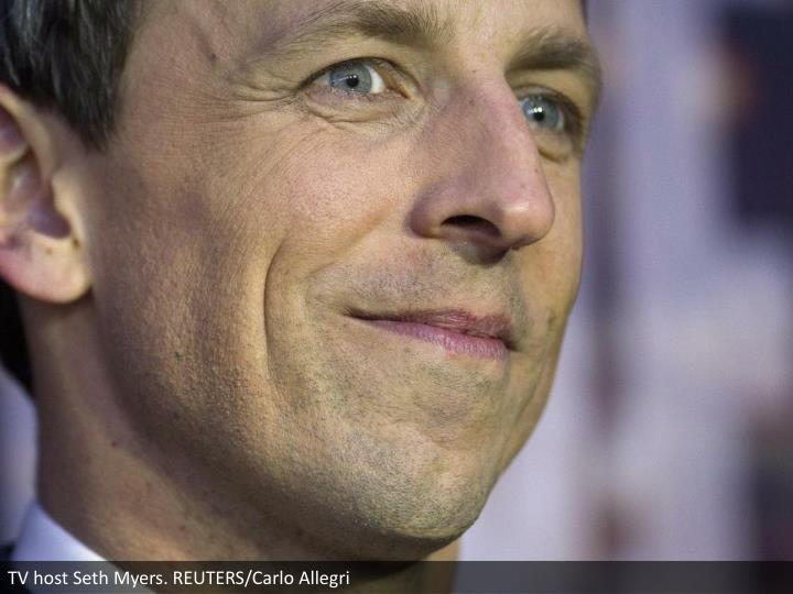 TV host Seth Myers. REUTERS/Carlo Allegri