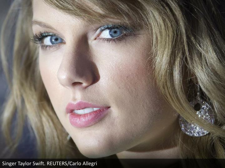 Singer Taylor Swift. REUTERS/Carlo Allegri
