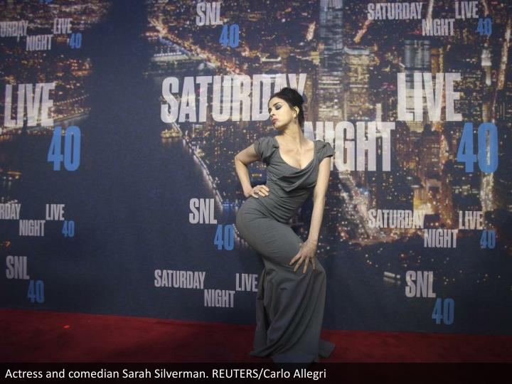 Actress and comedian Sarah Silverman. REUTERS/Carlo Allegri
