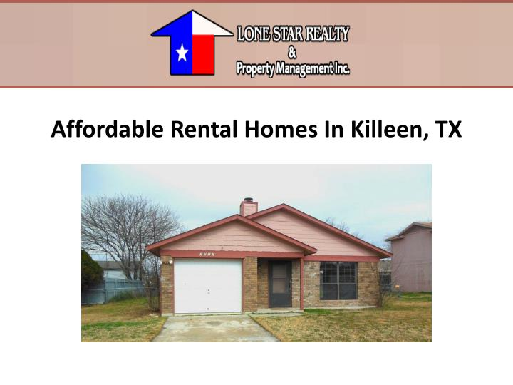 Ppt affordable rental homes in killeen tx powerpoint for Home builders in killeen tx