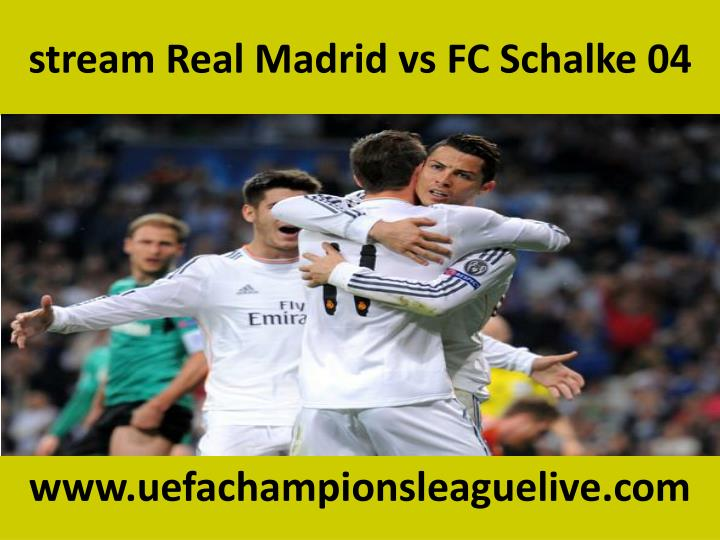 Stream real madrid vs fc schalke 04