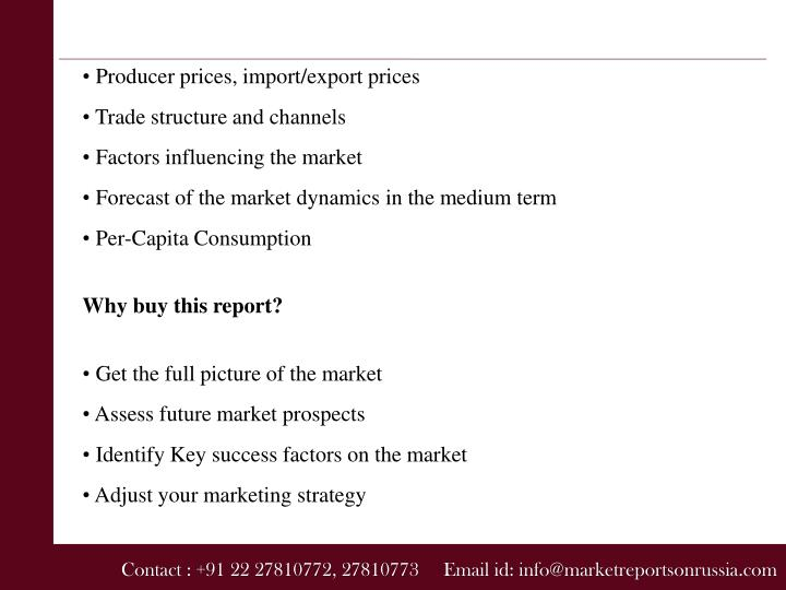 • Producer prices, import/export