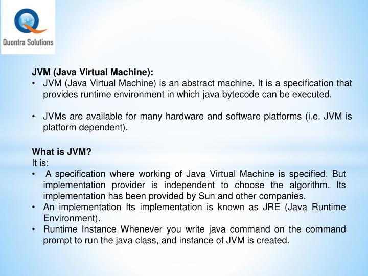 JVM (Java Virtual Machine