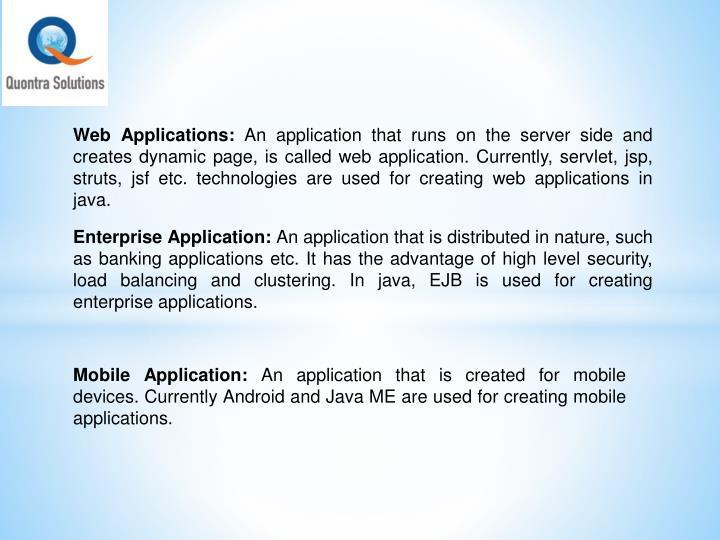 Web Applications: