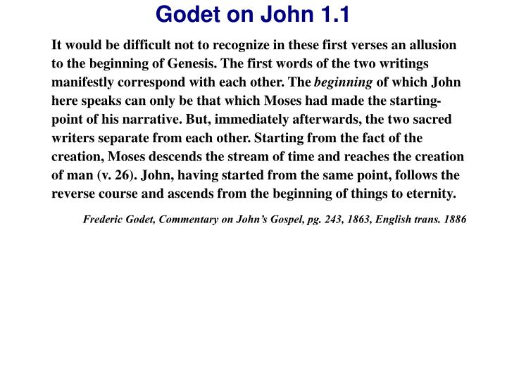 It would be difficult not to recognize in these first verses an allusion to the beginning of Genesis. The first words of the two writings manifestly correspond with each other. The