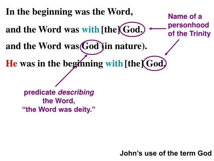 Name of a personhood of the Trinity
