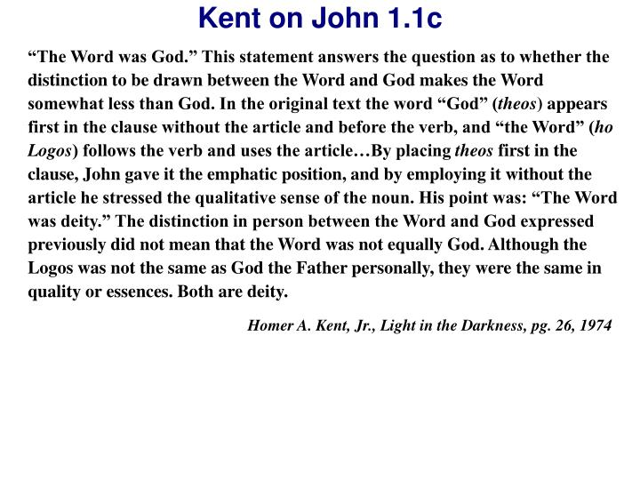 """""""The Word was God."""" This statement answers the question as to whether the distinction to be drawn between the Word and God makes the Word somewhat less than God. In the original text the word """"God"""" ("""