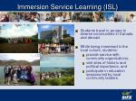 immersion service learning isl