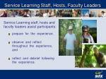 service learning staff hosts faculty leaders