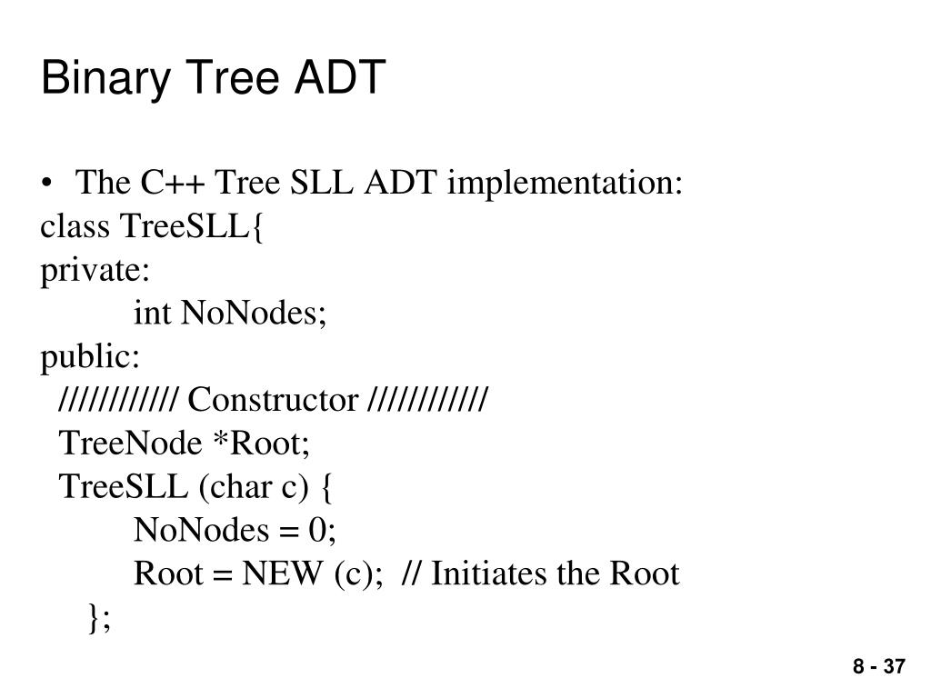 PPT - 8 Tree ADTs PowerPoint Presentation - ID:5372776