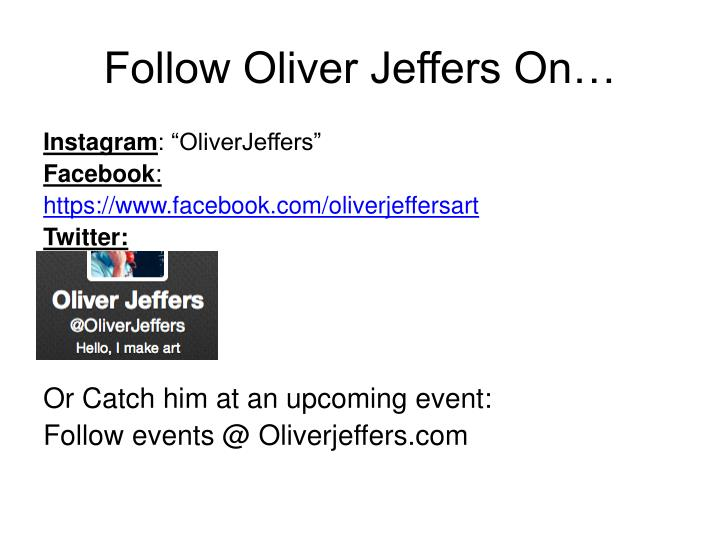 Follow Oliver Jeffers On…