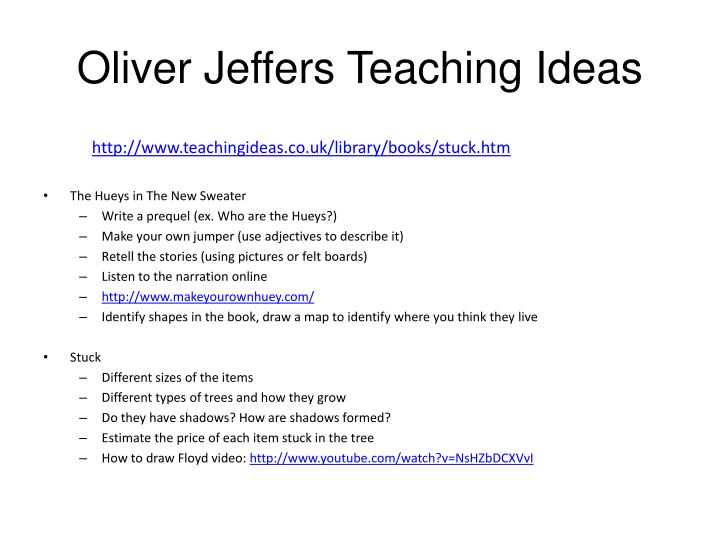 Oliver Jeffers Teaching Ideas