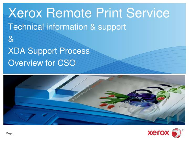 Ppt xerox remote print service powerpoint presentation id5372890 xerox remote print service toneelgroepblik Choice Image