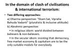 in the domain of clash of civilisations international terrorism