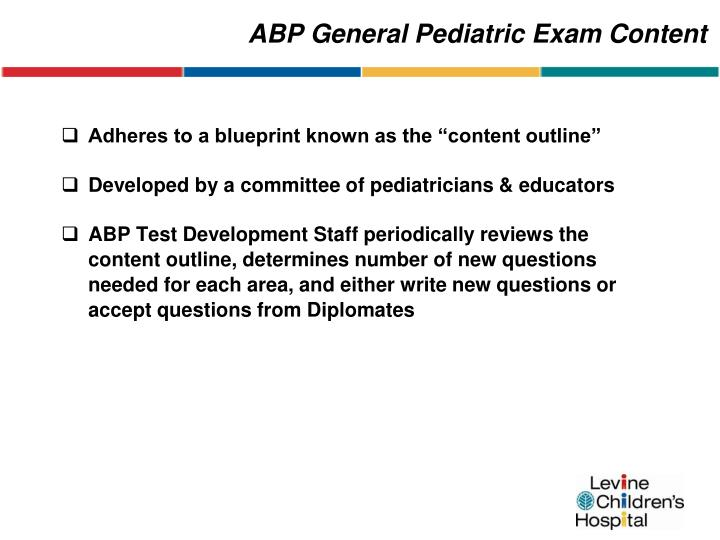 ABP General Pediatric Exam Content