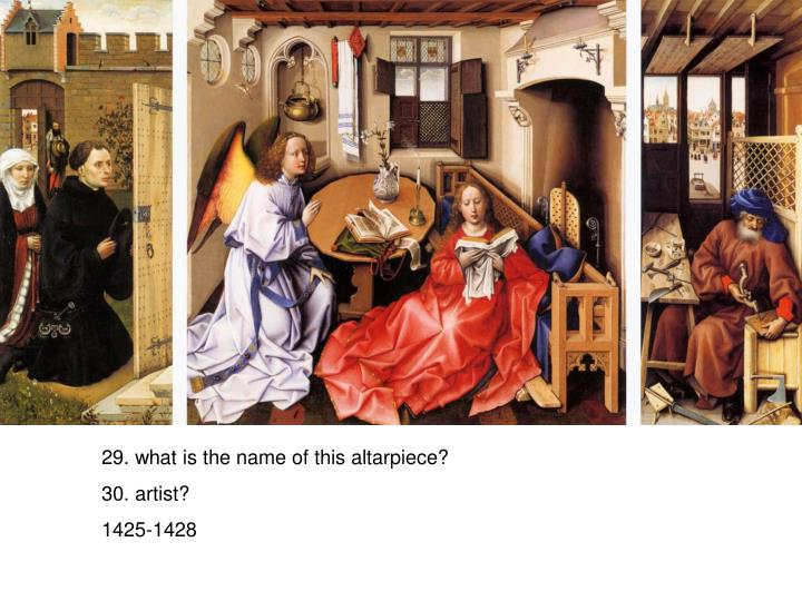 29. what is the name of this altarpiece?