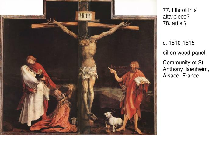 77. title of this altarpiece?