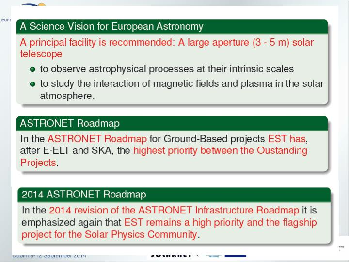 The est and solarnet projects
