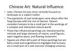 chinese art natural influence
