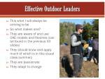 effective outdoor leaders