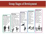 group stages of development