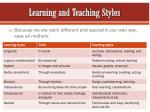 learning and teaching styles