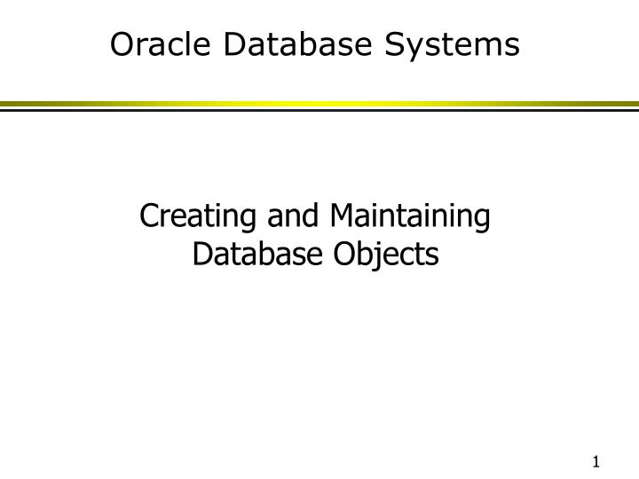 oracle database systems n.