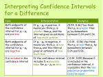 interpreting confidence intervals for a difference