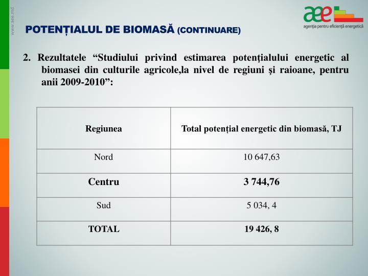 Potențialul de biomasă