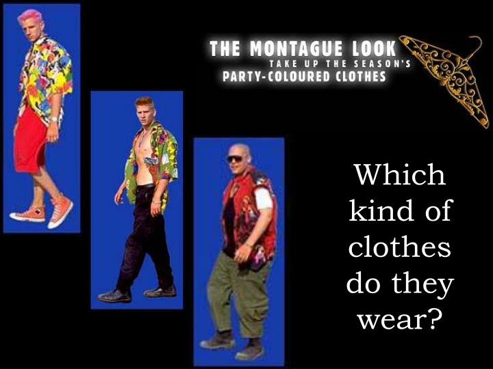 Which kind of clothes do they wear?