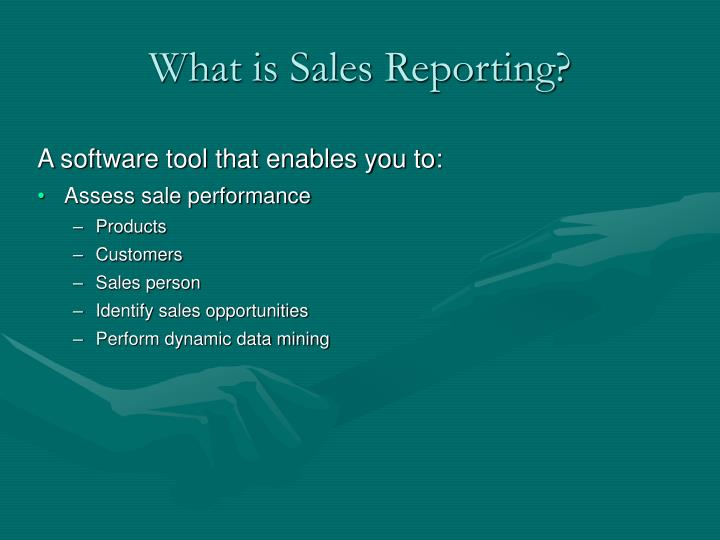 what is sales reporting n.