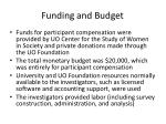 funding and budget